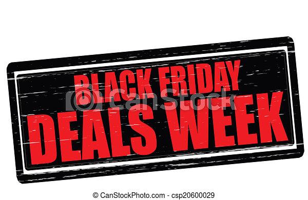 handlar, vecka, fredag, svart - csp20600029