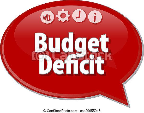 handlowy, budżet, ilustracja, diagram, deficyt, czysty - csp29655946