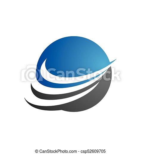 handlowy fachowiec, finanse, szablon, logo - csp52609705
