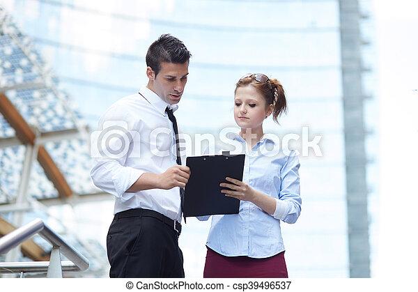 handlowy, pracujące ludzie - csp39496537