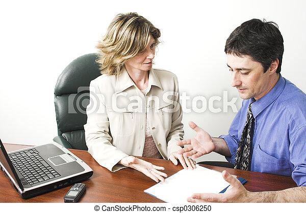 handlowy, pracujący, drużyna - csp0306250