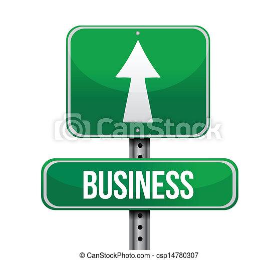 handlowy, projektować, droga, ilustracja, znak - csp14780307