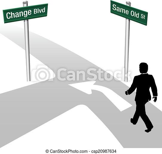 handlowy, tak samo, postanowienie, albo, zmiana, człowiek - csp20987634