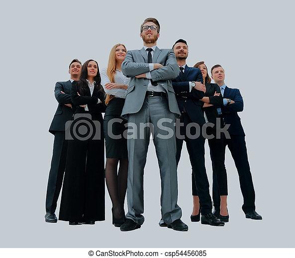 handlowy zaludniają, -, młody, team., pociągający, elita - csp54456085