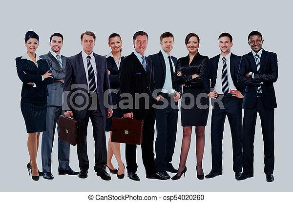 handlowy zaludniają, -, młody, pociągający, drużyna, elita - csp54020260
