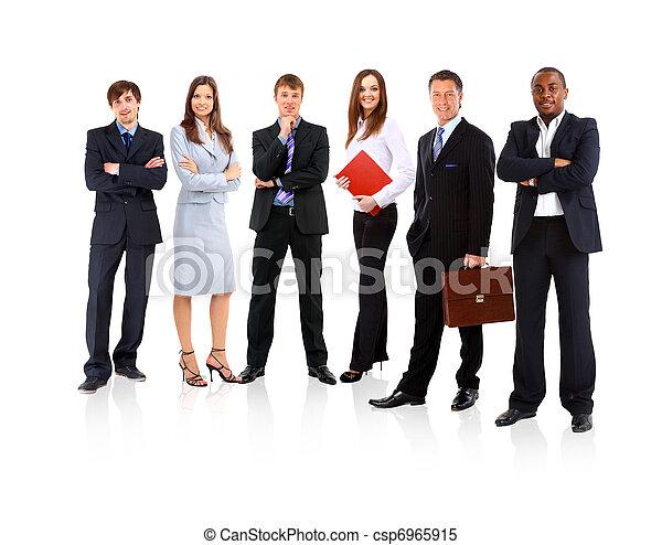 handlowy zaludniają, -, młody, pociągający, drużyna, elita - csp6965915