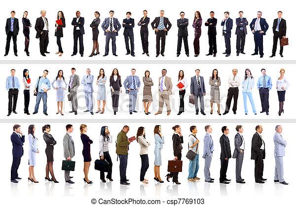 handlowy zaludniają, -, młody, pociągający, drużyna, elita - csp7769103