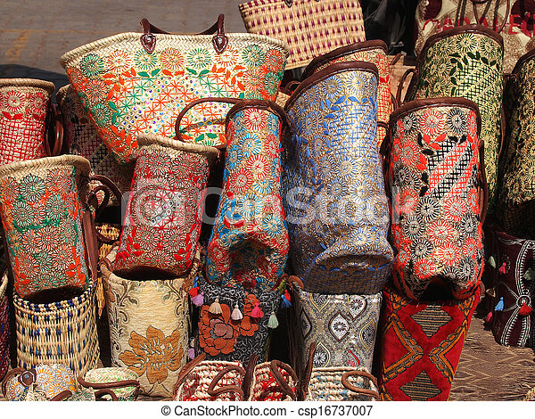 handmade bags and baskets - csp16737007