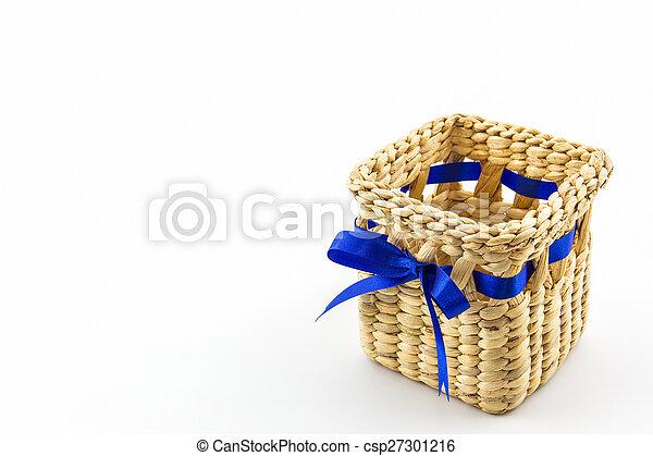 Handmade box made from dry water hyacinth decoration, Hand craft - csp27301216