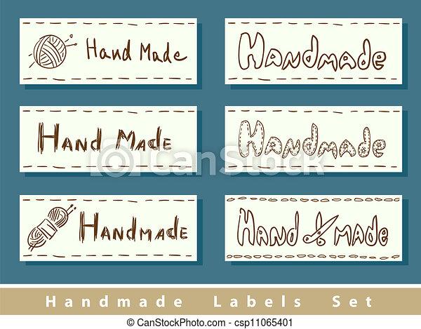 Handmade labels. - csp11065401