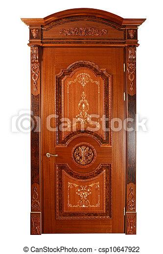 Handmade luxury door. - csp10647922  sc 1 st  Can Stock Photo & Handmade luxury door. isolated on white background.