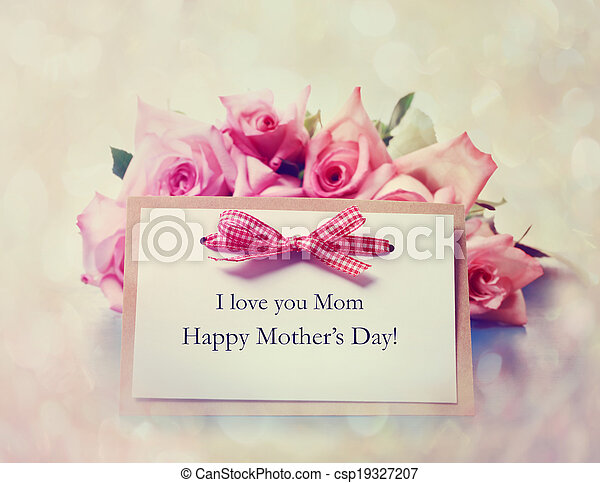 Handmade mothers day card with pink roses handmade mothers day handmade mothers day card with pink roses csp19327207 m4hsunfo