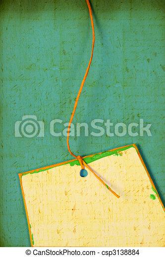 Handmade paper tag - csp3138884