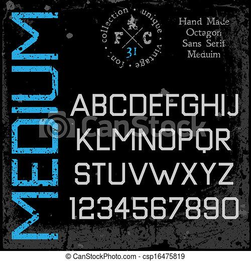 Handmade retro font - csp16475819