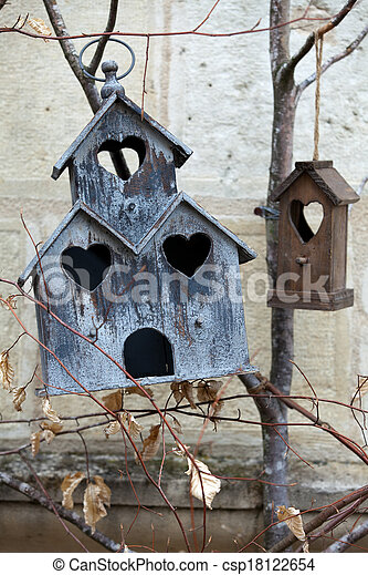 Handmade the wooden house for birds - csp18122654