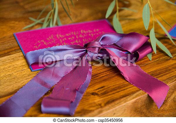 Handmade wedding invitations - csp35450956