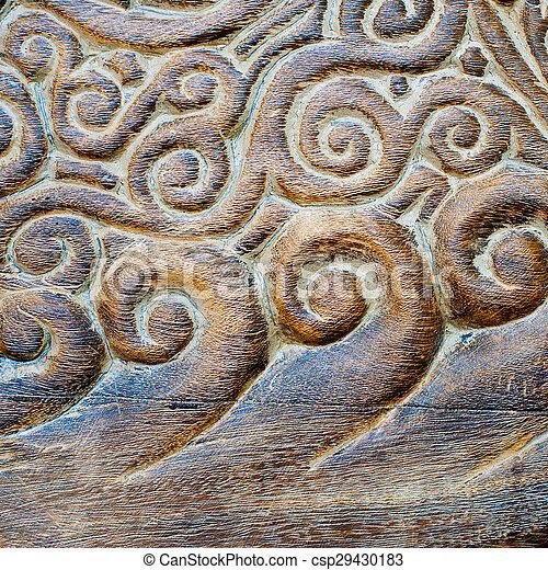 Handmade wood carvings handmade wood carving curly pattern