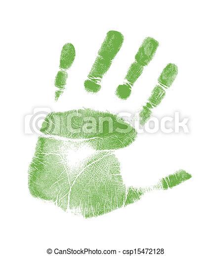 handprint illustration design - csp15472128