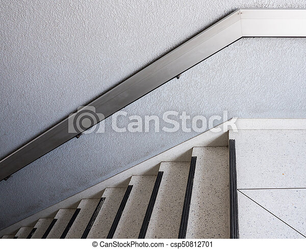 Handrail blanc métal marbre escalier usage escalier bureau