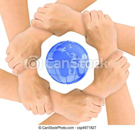 Hands and globe - csp4971827