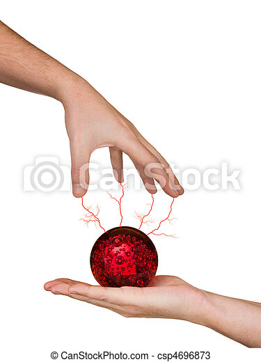 Hands and magic sphere - csp4696873
