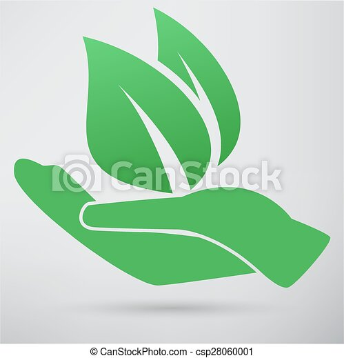 Hands and plant icon - csp28060001
