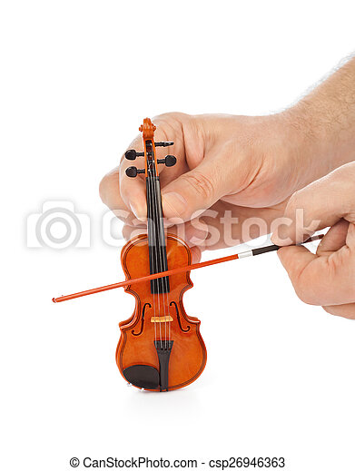 Hands and toy violin - csp26946363