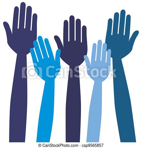 hands., atteindre, ou, vote - csp9565857