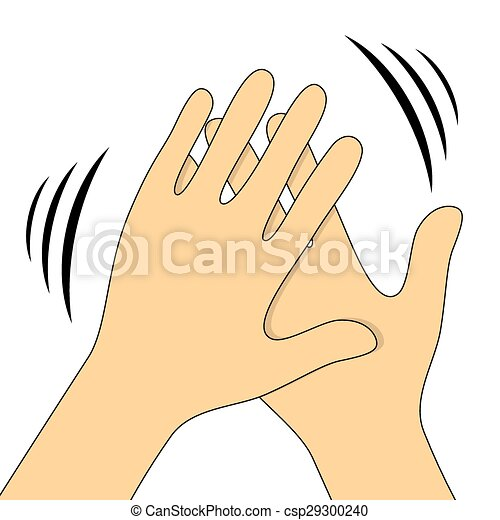 hands clapping symbol vector icons for video mobile apps eps rh canstockphoto ca  free clipart clapping hands animated