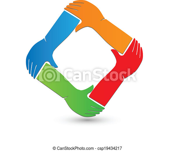 Hands connection logo  - csp19434217