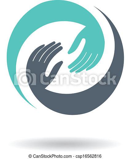 Hands Deal Design Logo - csp16562816