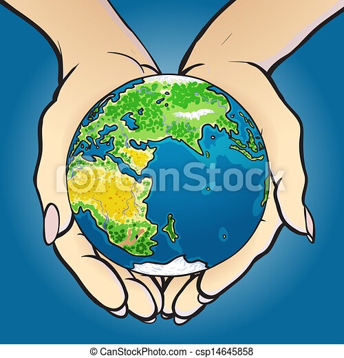 hands giving and holding globe vector illustration of hands holding rh canstockphoto com hand holding earth drawing hand holding art