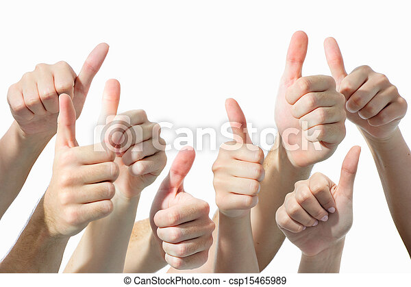 hands giving thumbs up - csp15465989