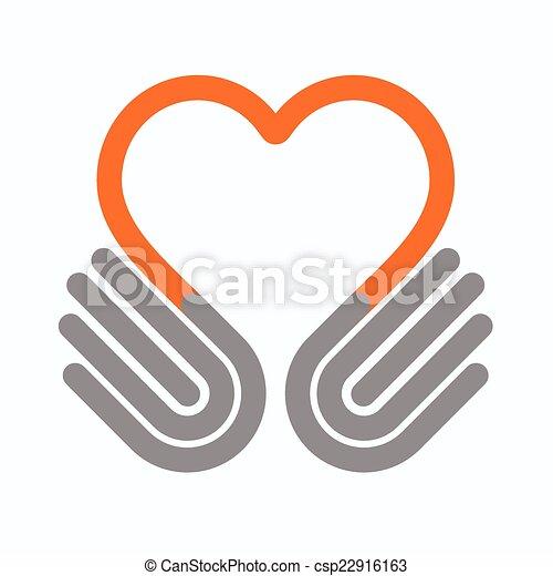 Hands heart - csp22916163
