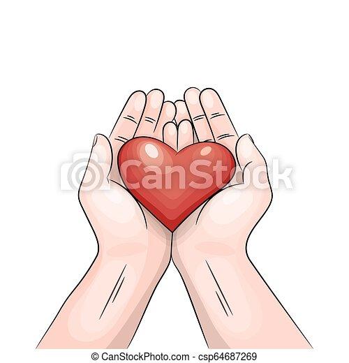 hands., hjärta - csp64687269