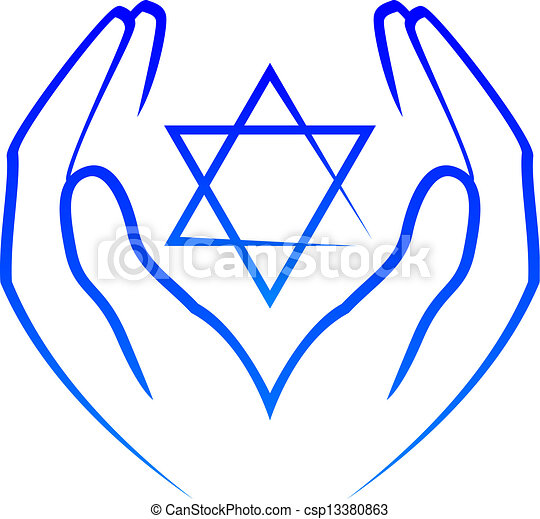 hands holdin star of David - csp13380863