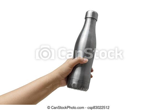 Hands holding a bottle - csp83022512