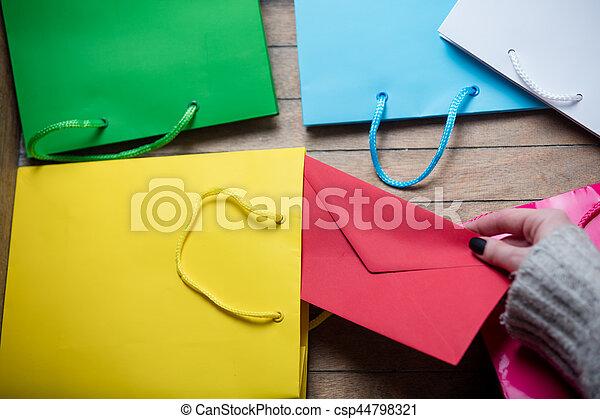 hands holding envelope - csp44798321