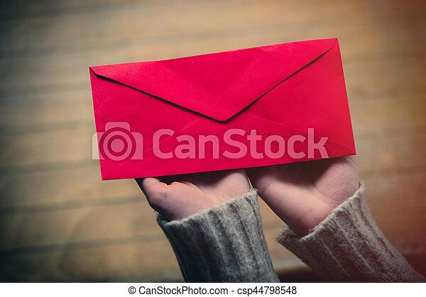 hands holding envelope - csp44798548