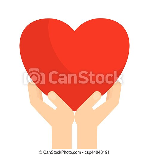 Hands Holding Heart Hands Holding Big Red Heart Symbol Of Love And