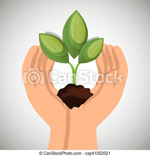 hands holding plant green concept ecological - csp41052021
