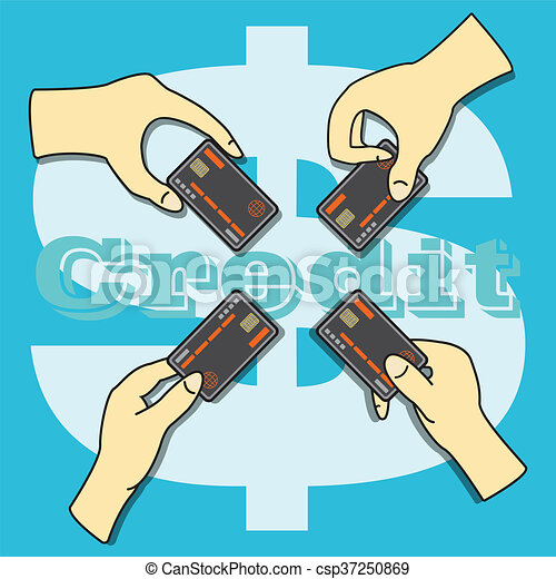Hands holding the Credit Card - csp37250869