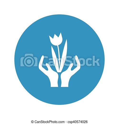 hands icon on white background - csp40574026