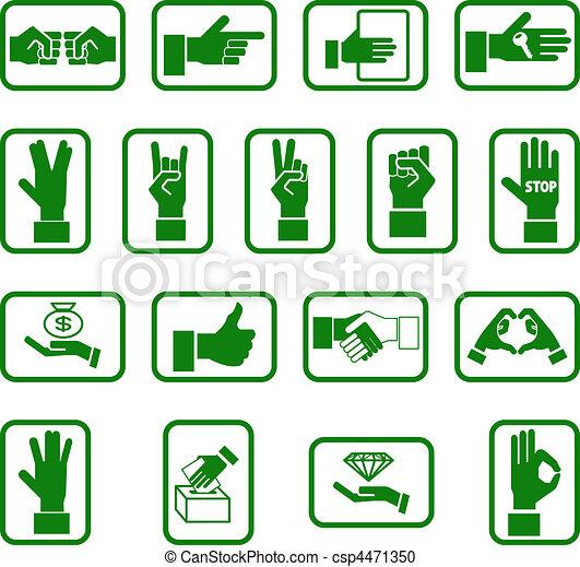 hands icon set - csp4471350