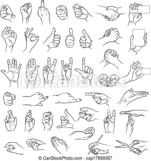 Hands in different interpretations - csp17899387