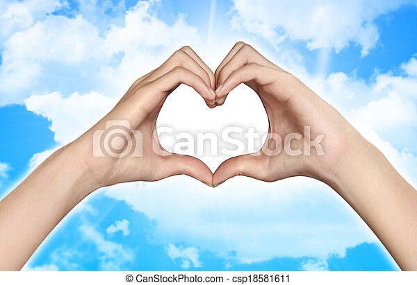 hands in the form of heart - csp18581611