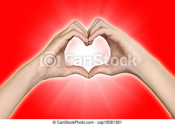 hands in the form of heart - csp18581381