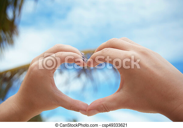 hands in the form of heart - csp49333621