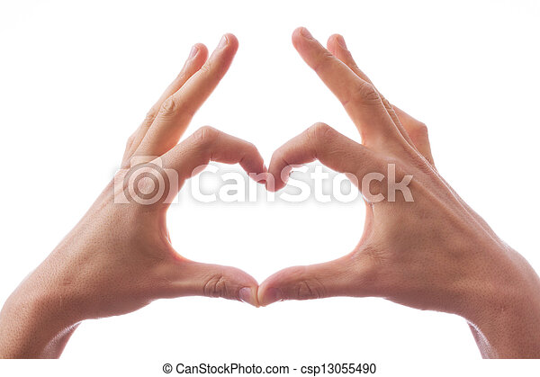 Hands in the form of heart - csp13055490