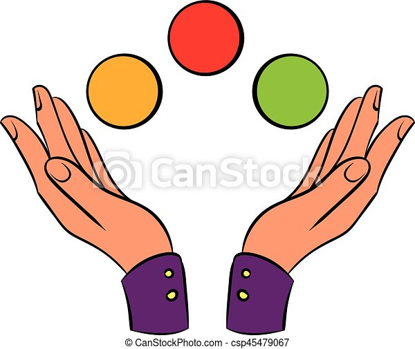 hands juggling balls icon cartoon hands juggling balls icon rh canstockphoto com juggle clip art free animated juggler clipart